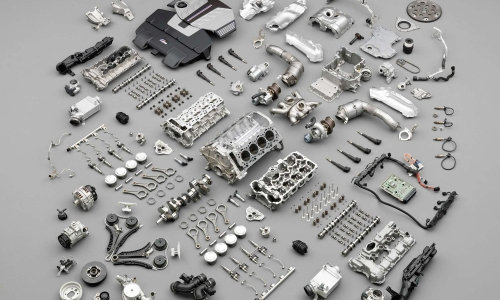 disassembled (exploded view) of engine