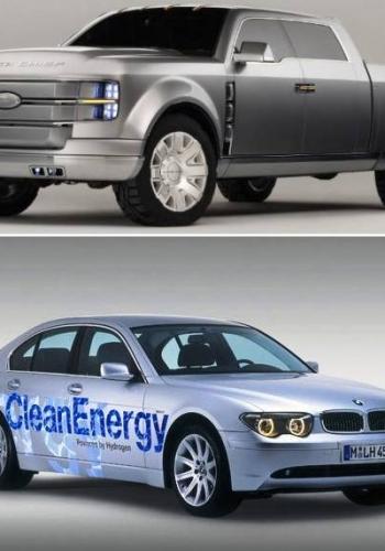 Ford F-250 Super Chief and BMW Hydrogen 7