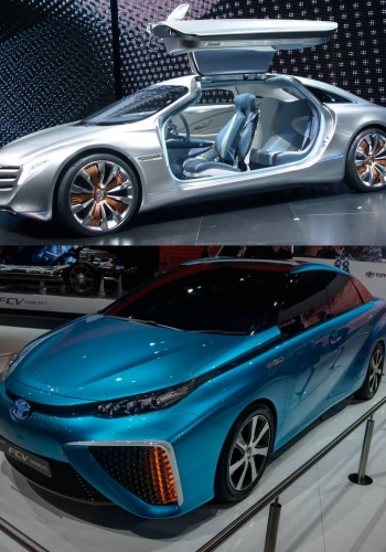 Mercedes-Benz F125 and Toyota FCV