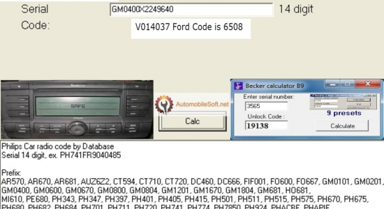 Radio Code Calculator | Automobile Radio Decoder | Free Radio Code
