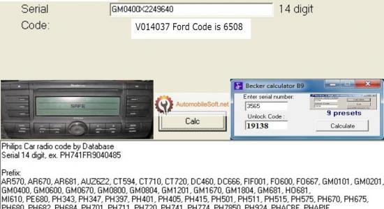 Radio Code Calculator   Automobile Radio Decoder   Free