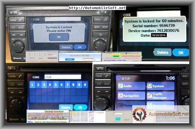 Autoentertainment CD PLAYER/RADIO/ DECODER/UNLOCKER FOR STEREO/,CODE & PASSWORD DOWNLOAD